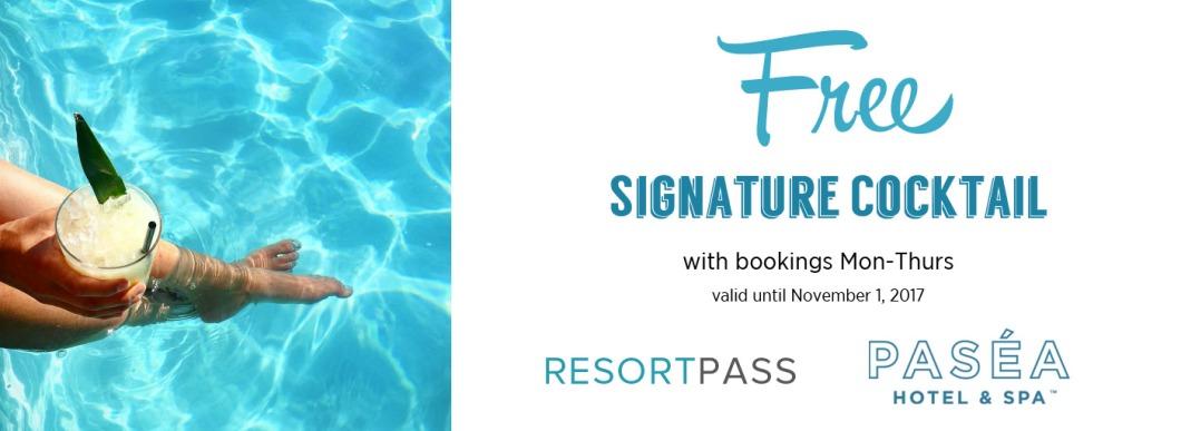 Free Signature Cocktail at Pasea Hotel & Spa